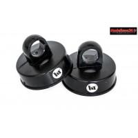 Hobbytech Bouchons Big bore 16mm Noir : HT-598105