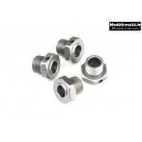 Hobbytech Hexagones de roues Spirit EVO/NXT GP STR8/RG/EVO/DELUXE EPX2 : STR-049TI