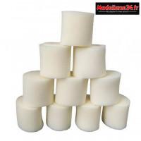 Hobbytech 10 Mousses compactes ovale Filtre a air 1/8eme : HT-501227