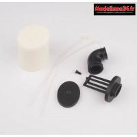 """Hobbytech Filtre à air 1/8"""" ovale double mousse : HT-501235"""