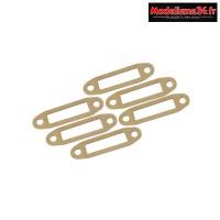 Hobbytech Joints d'échappement papier pour sortie latérale moteur 10-15 (6pcs) : HT-501159