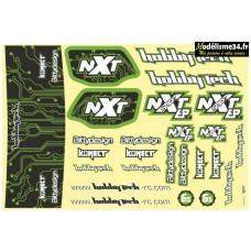 Planche de stickers Spirit NXT EP 2.0 Verte : STICK-NXTEP-2.0