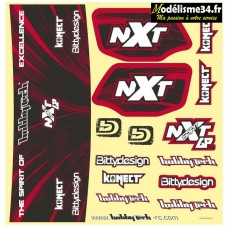 Planche stickers Spirit NXT GP Orange : STICK-SPIRITNXTGP