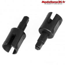 HobbyTech - Noix de diff avant / arrière en acier traité dur - REV-0P25