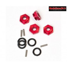 Hobbytech Hexagone de roue av/ar Alu + joint : REV-176