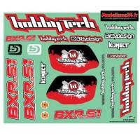 Planche de stickers Hobbytech BXR.S1: STICK-BXR.S1