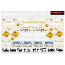 Planche de stickers CRX V2 Survival : STICK-CRX.SURVIVAL