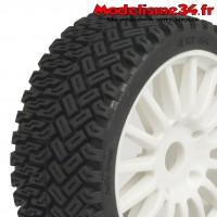 Hobbytech - Pneus Rallycross + jantes Blanches (x2) - HT-454