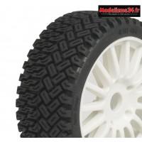 Hobbytech Pneus Rallycross sur jantes Blanches (x2) : HT-454