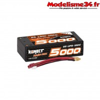 Batterie Konect lipo 5000mah 7.4V 100C 2S2P SHORTY -KN-LP.RT-2S5000.SY