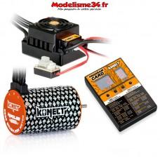Combo brushless 50Amp WP + moteur 4P 3652SL 4000Kv +carte de prog - KN-COMBO-B2