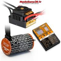 Combo brushless 1/8 150Amp WP + Moteur 4P. 4268 1900KV +carte de prog - KN-COMBO-M7