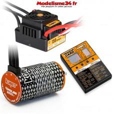 Combo brushless 1/8 150Amp WP + Moteur 4P. 4274 2000KV +carte de prog - KN-COMBO-M8