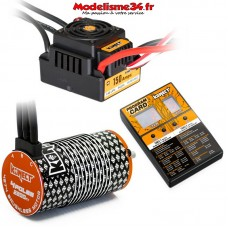 Combo brushless 1/8 150Amp WP + Moteur 4P. 4274 2200KV +carte de prog - KN-COMBO-M9