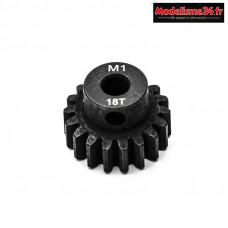 Konect - Pignon moteur M1 ø5mm 18 dents en acier : KN-180118