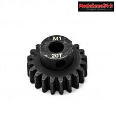 Konect - Pignon moteur M1 ø5mm 20 dents en acier : KN-180120