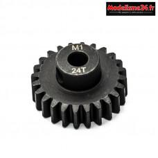 Konect - Pignon moteur M1 ø5mm 24 dents en acier : KN-180124