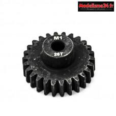 Konect - Pignon moteur M1 ø5mm 26 dents en acier : KN-180126