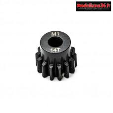 Konect - Pignon moteur M1 ø5mm 14 dents en acier : KN-180114