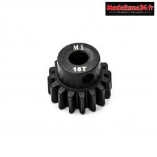 Konect - Pignon moteur M1 ø5mm 16 dents en acier : KN-180116
