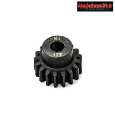 Konect - Pignon moteur M1 ø5mm 17 dents en acier : KN-180117