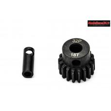 Konect - Pignon moteur 32dp ø5mm + adaptateur 3,17mm 18 dents en acier : KN-183218