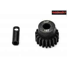 Konect - Pignon moteur 32dp ø5mm + adaptateur 3,17mm 19 dents en acier : KN-183219