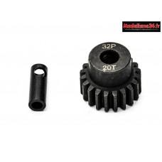 Konect - Pignon moteur 32dp ø5mm + adaptateur 3,17mm 20 dents en acier : KN-183220