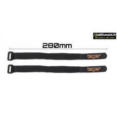 Konect Strap pour accus LiPo 280 mm (2 pieces) : KN-LIPO.STRAP-280