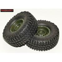 Pneus et jantes verte crawler avec pneus Mud Country 103mm ( 2 ) : m542