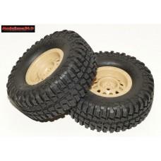 Pneus et jantes beige crawler avec pneus Mud Country 103mm ( 2 ) : m543