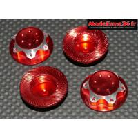 Ecrous de roues 1/8 borgnes rouge : M740