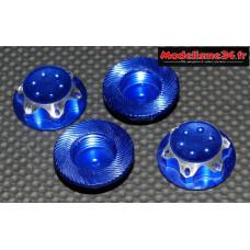 Ecrous de roues 1/8 borgnes bleu : M741