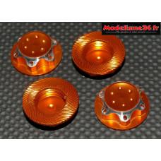 Ecrous de roues 1/8 borgnes gold : M742