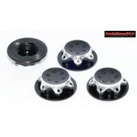 Ecrous de roues 1/8 borgnes noir : M743