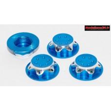 Ecrous de roues 1/8 borgnes bleu ciel : M744