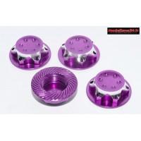 Ecrous de roues 1/8 borgnes violet : M745