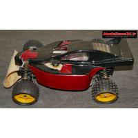 Rabbit GTI racing 1987 4x2 carrosserie noire et rouge