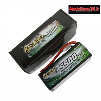 Batterie Gens Ace Pack Lipo 4S-14.8V-50C-5500 prise deans : GE3-5500-4D