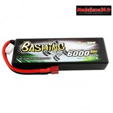 Batterie Gens Ace Pack Lipo 2S-7.4V-50C-6000 prise deans : GE3-6000-2D