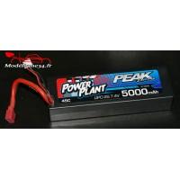 Batterie Power Plant Peak Lipo 2S-7.4V-5000-45C-Deans 12AWG - PEK00545