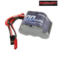 Gens ace Batterie Rx NiMh 6.0V-1700Mah (Dual JR-JST) 125g - Hump