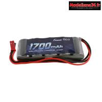 Gens ace Batterie Rx NiMh 6.0V-1700Mah (Dual JR-JST) 125g - Straight