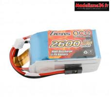 Gens ace Batterie Rx LiPo 2S-7.4V-2600 (JR plug) 96g - Hump
