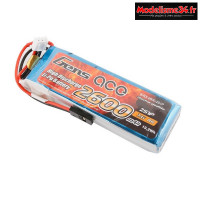 Gens ace Batterie Rx LiPo 2S-7.4V-2600 (JR plug) 92g - Straight