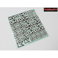 Kyosho planche décorations logo (235x210mm) : 36276