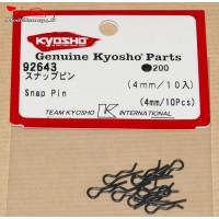 Clips de carrosserie Kyosho 1/10 (10) - 4mm  - K.92643