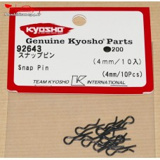Clips de carrosserie Kyosho 1/10 (10) - 4mm  - K.92643