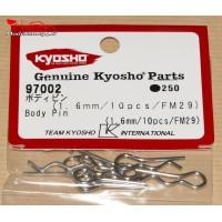 Clips de carrosserie Kyosho 1/8 (10) - K.97002
