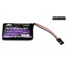 Arrowmax Batterie Lipo 3200mAh 3.7V Radio Sanwa MT-44 : AM700991